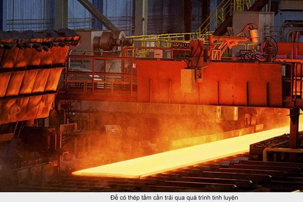 Quá trình sản xuất thép tấm