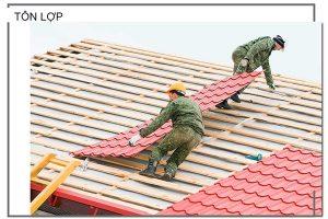Tôn lợp mái là hợp kim của thép với vài thành phần khác như kẽm, sillic…