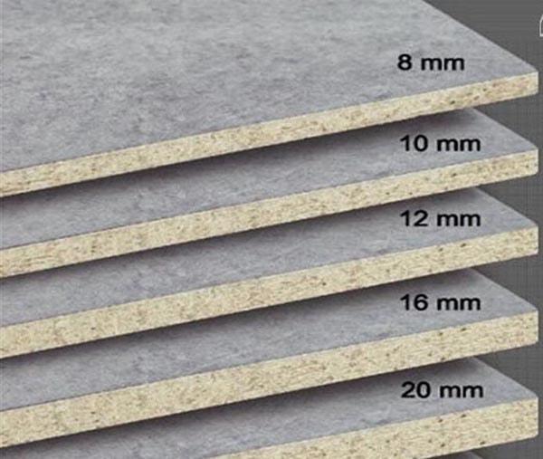 Độ dày tiêu chuẩn của tấm Cemboard Thái Lan