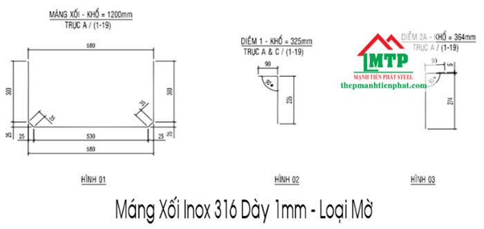 Máng xối inox 316