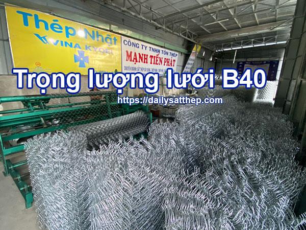 Trọng lượng lưới B40