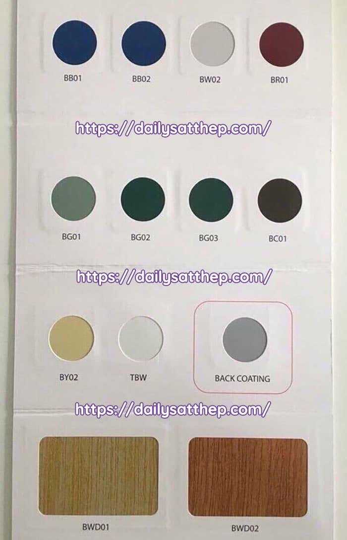 Tôn Globalsteel có 12 màu mẫu sơn phù hợp với nhiều công trình khác nhau