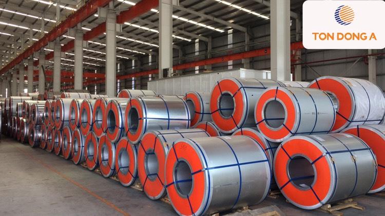 Tôn kẽm lạnh Đông Á có một lớp mạ hợp kim bao gồm nhôm, kẽm và silic