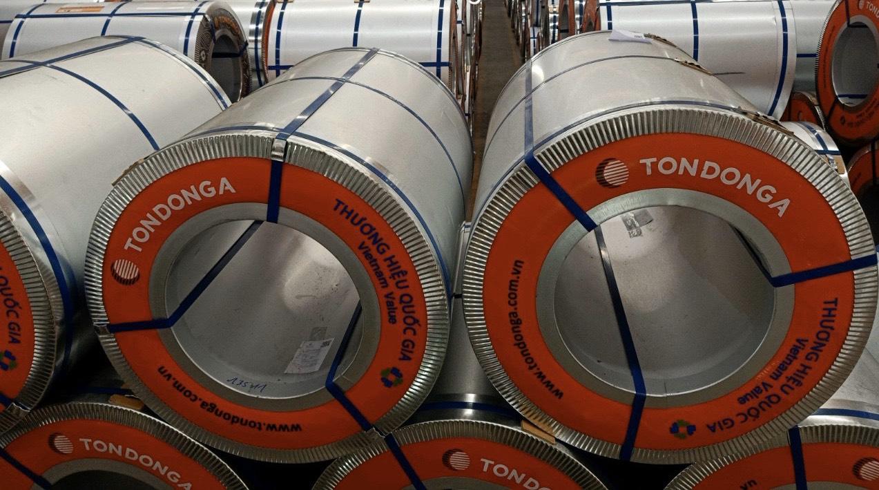 Khối lượng tối đa của một cuộn tôn kẽm lạnh có thể lên tới 10 tấn