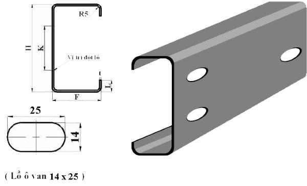 Thành phần chính của xà gồ thép C Vinaone là sắt và carbon